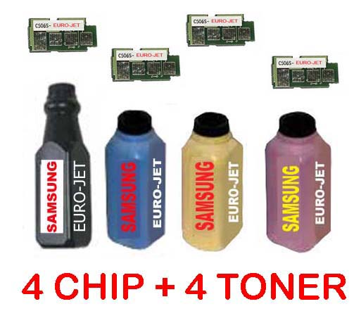 ΣΥΜΒΑΤΟ SET TONER BOTTLES CLT-506, CLP-680 BK/C/Y/M/ + 4  CHIP