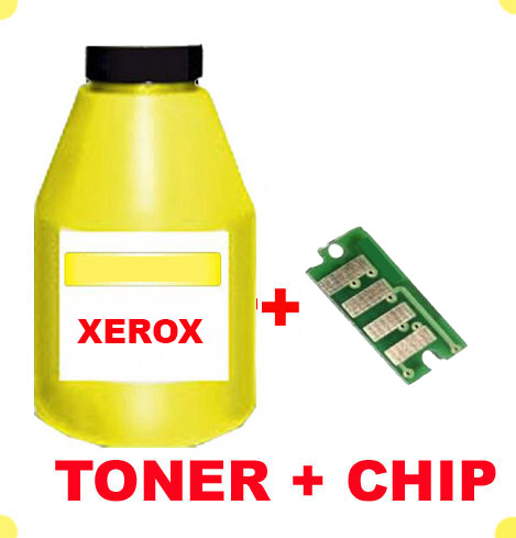 TONER IN BOTTLE  & CHIP FOR XEROX 7400 YELLOW