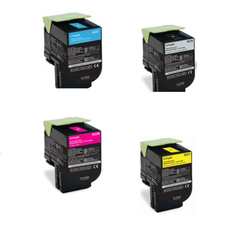 ΣΥΜΒΑΤΟ TONER LEXMARK SET BLACK+CYAN+MAGENTA+YELLOW  CX310, CX410, CX510