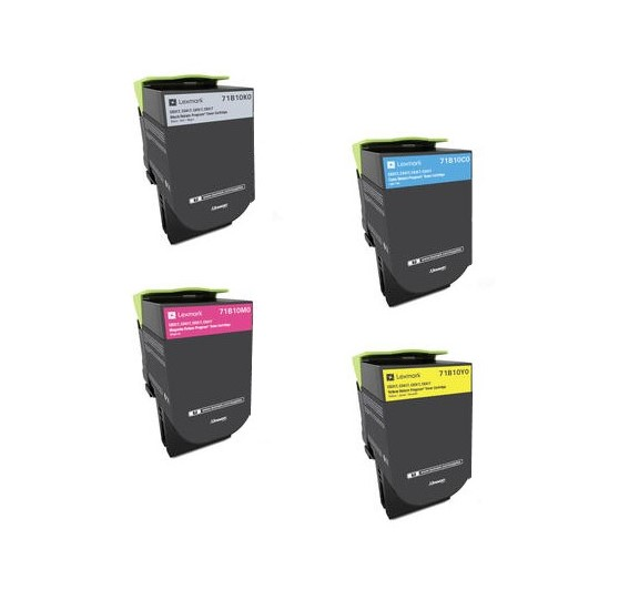 ΣΥΜΒΑΤA TONER LEXMARK SET BLACK + CYAN + MAGENTA + YELLOW  CS310, CS410, CS510