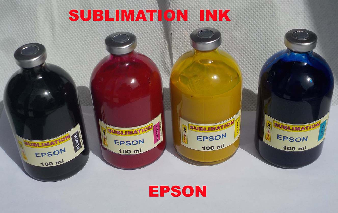 SUBLIMATION INK BLACK + CYAN + MAGENTA + YELLOW  100ml for EPSON