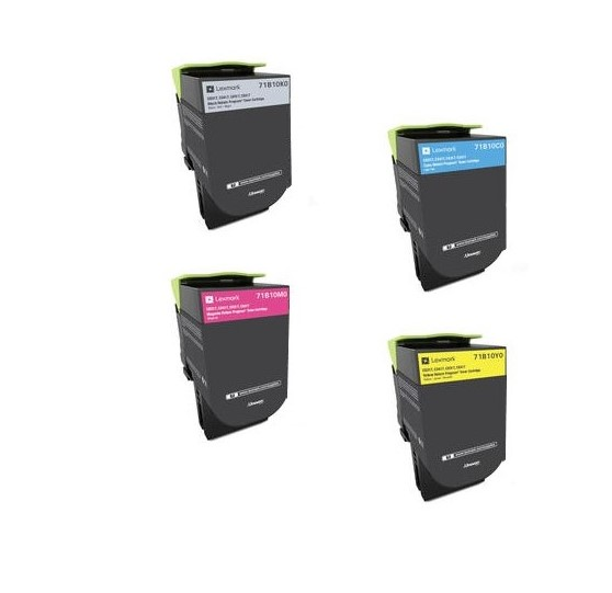 LEXMARK SET BLACK+CYAN+MAGENTA+YELLOW CS317, CS417, CS517, CX317, CX417, CX517