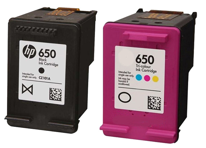 HP 650 BLACK & COLOR